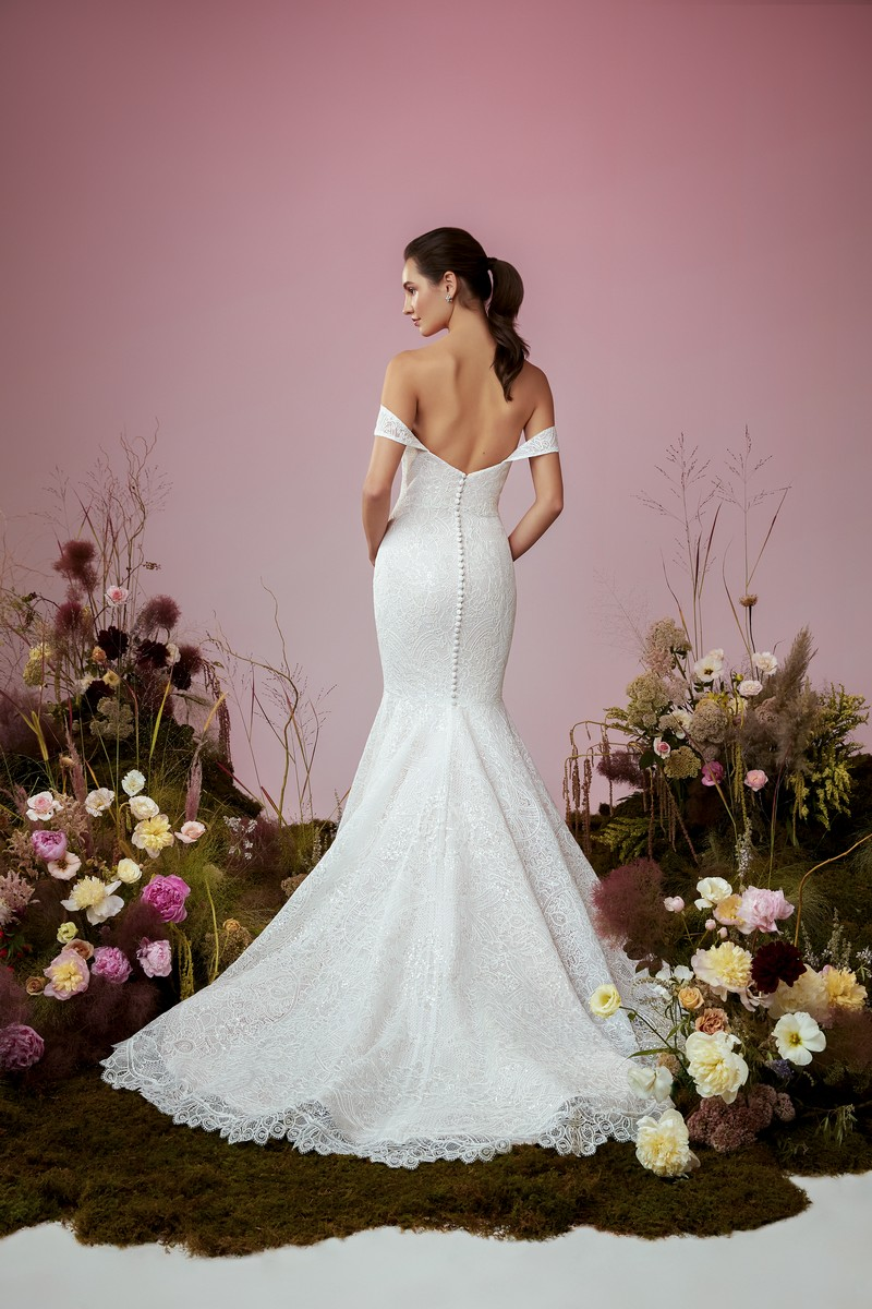 Back of Soulmate wedding dress from the Anne Barge Blue Willow Bride 2021 Bridal Collection