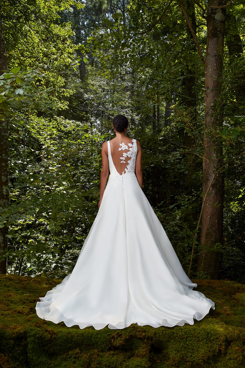 Back of Take My Heart wedding dress from the Anne Barge 2021 Bridal Collection