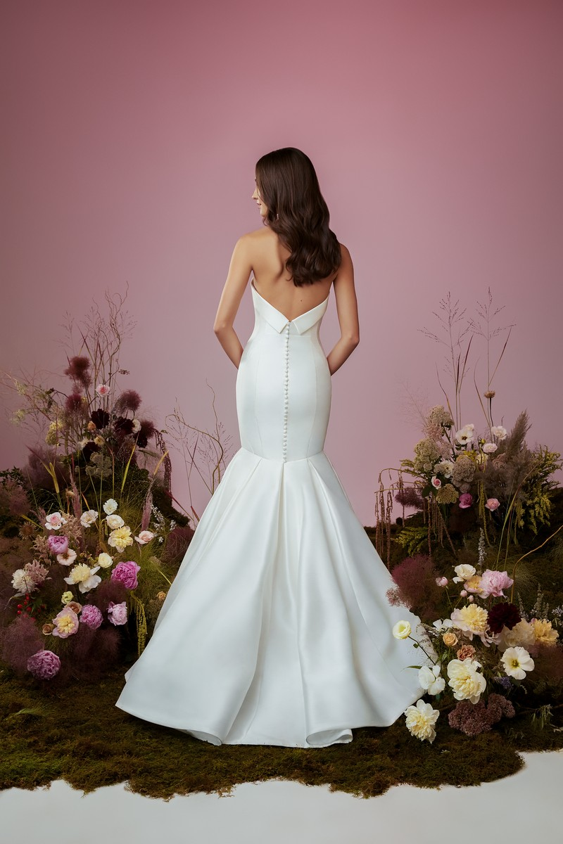 Back of Vow wedding dress from the Anne Barge Blue Willow Bride 2021 Bridal Collection