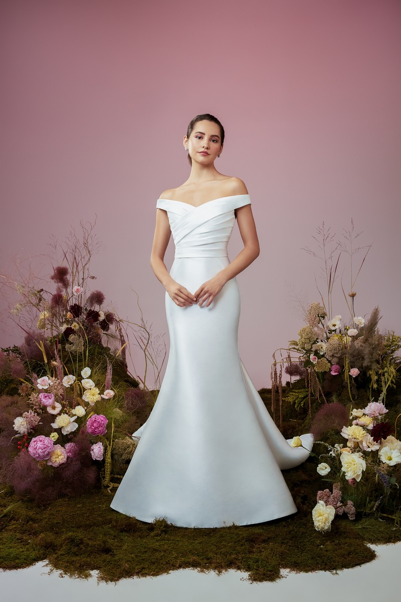 Whispering wedding dress from the Anne Barge Blue Willow Bride 2021 Bridal Collection