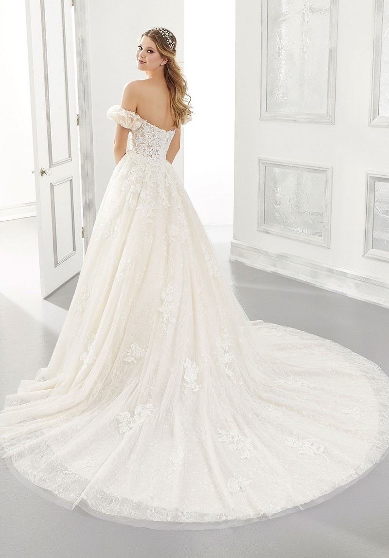 Back of Abigail (Style 2185) wedding dress from the Morilee Modern Romance Spring 2021 Bridal Collection