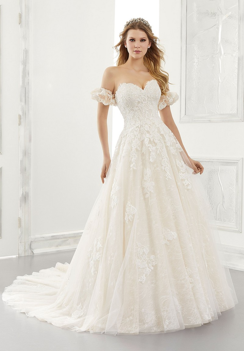 Abigail (Style 2185) wedding dress from the Morilee Modern Romance Spring 2021 Bridal Collection