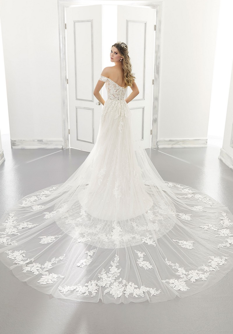 Back of Addison (Style 2175) wedding dress from the Morilee Modern Romance Spring 2021 Bridal Collection