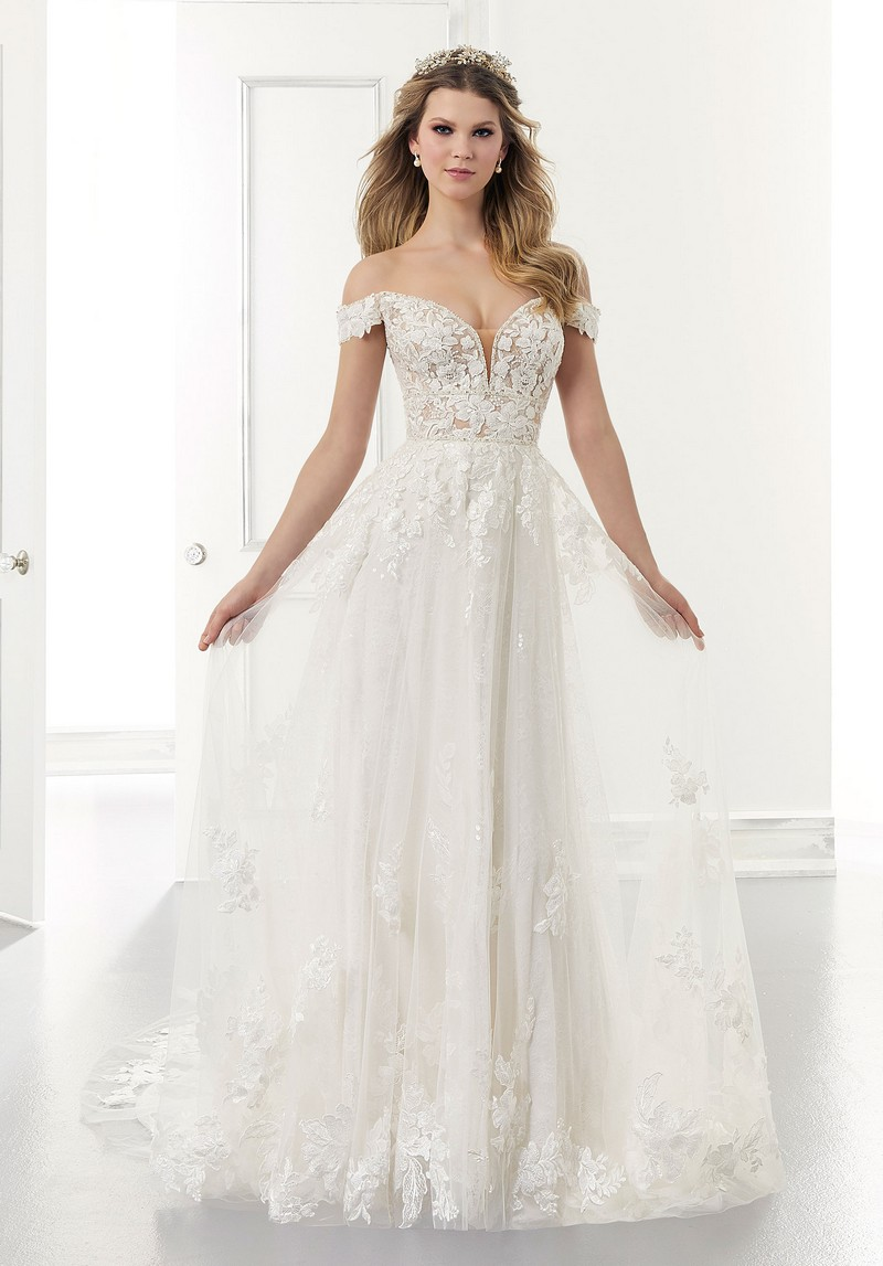 Addison (Style 2175) wedding dress from the Morilee Modern Romance Spring 2021 Bridal Collection