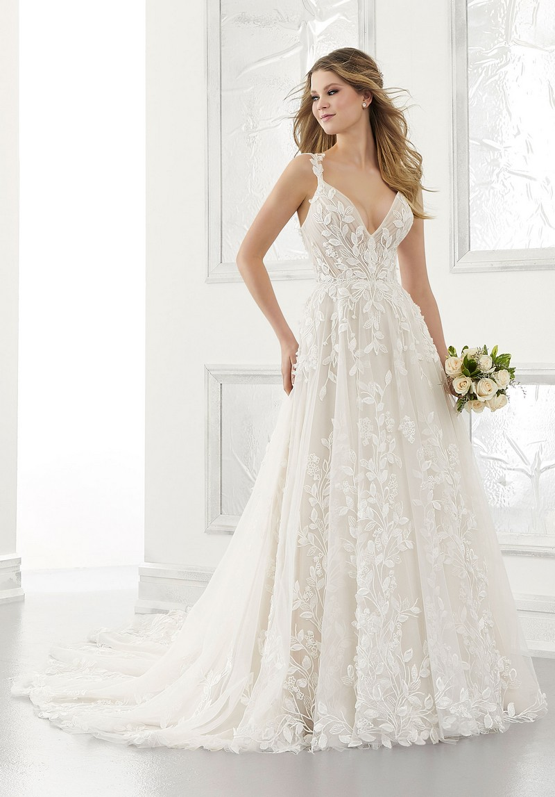 Adelaide (Style 2171) wedding dress from the Morilee Modern Romance Spring 2021 Bridal Collection