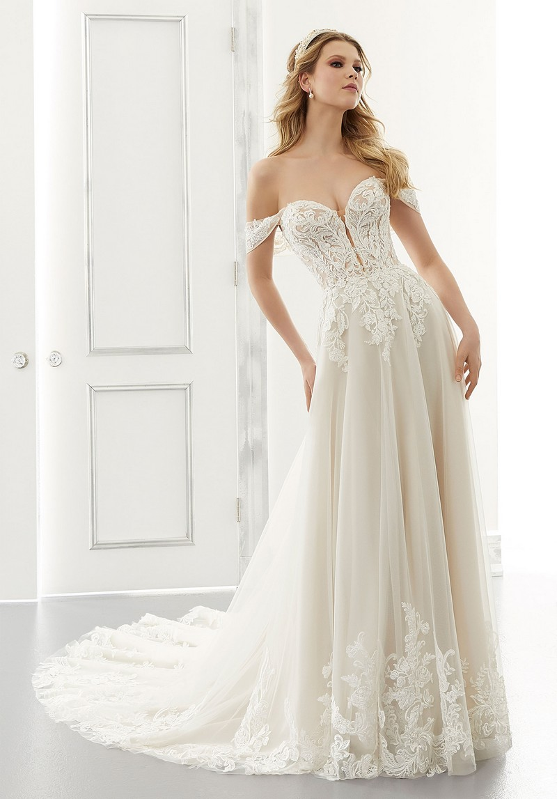 Adrianna (Style 2192) wedding dress from the Morilee Modern Romance Spring 2021 Bridal Collection