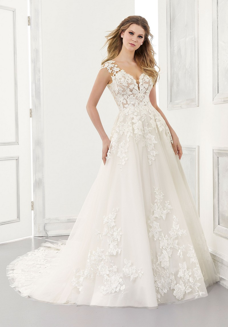 Agatha (Style 2173) wedding dress from the Morilee Modern Romance Spring 2021 Bridal Collection