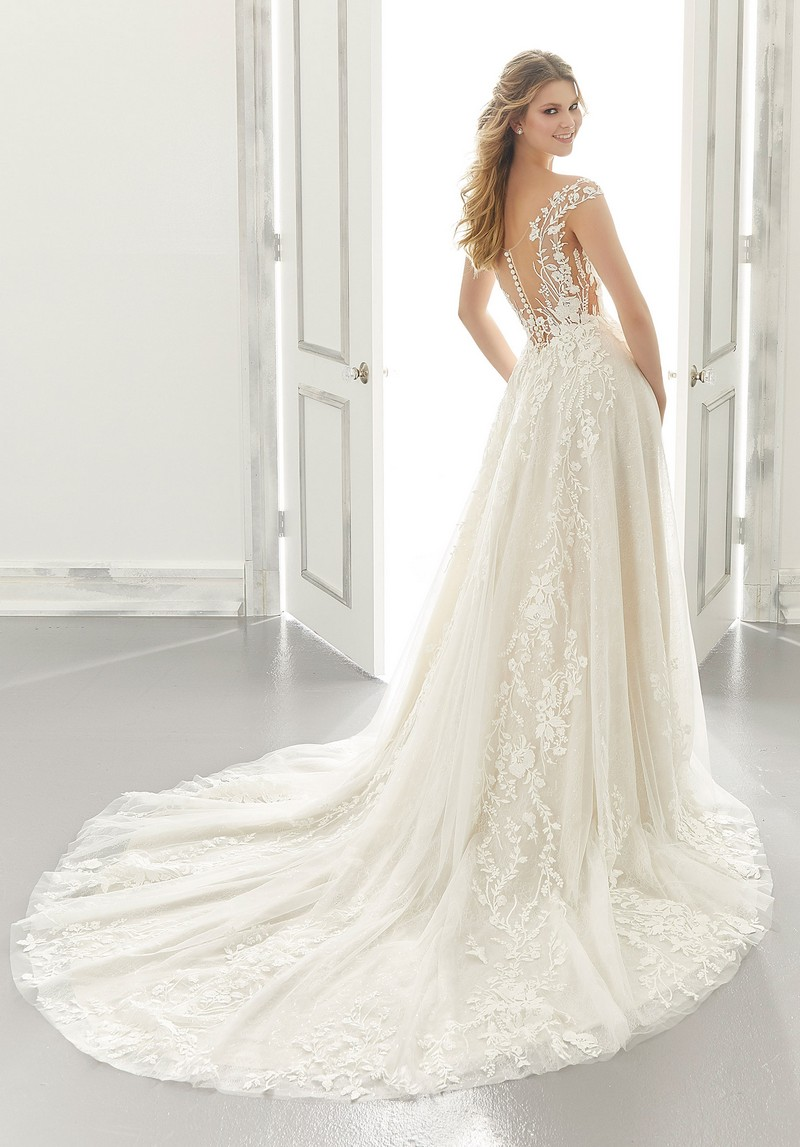 Back of Alice (Style 2191) wedding dress from the Morilee Modern Romance Spring 2021 Bridal Collection