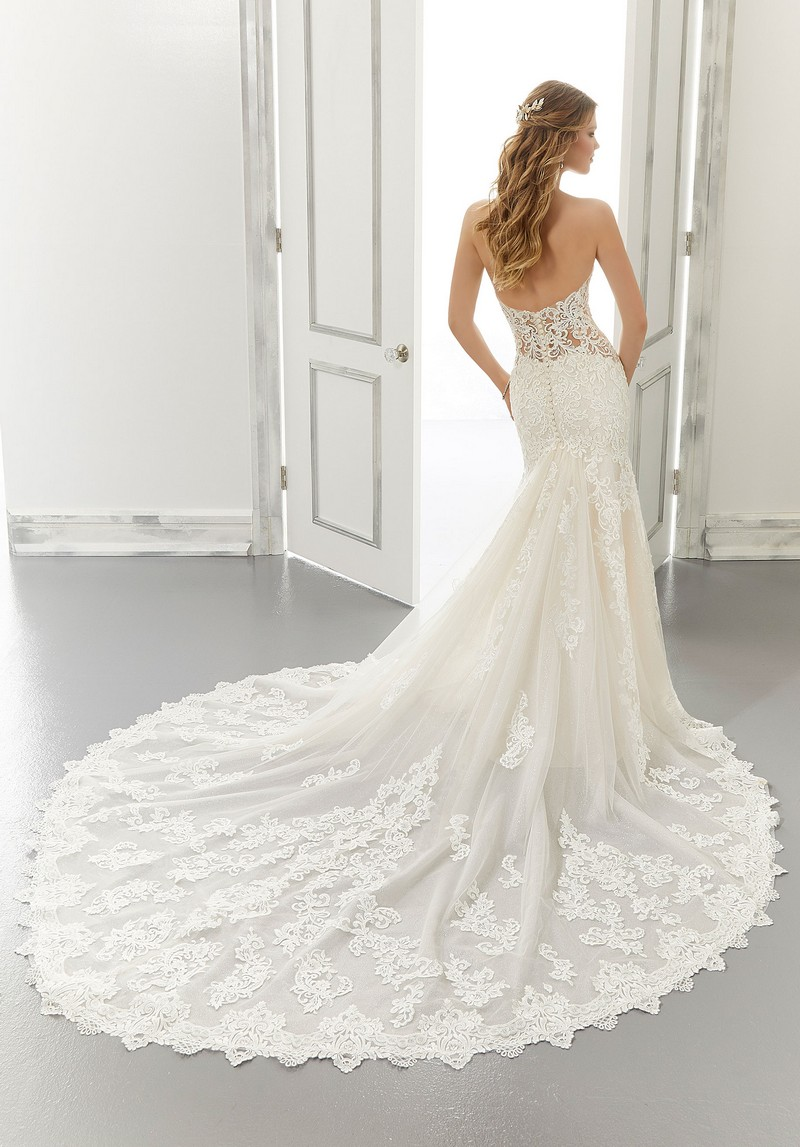 Back of Allison (Style 2188) wedding dress from the Morilee Modern Romance Spring 2021 Bridal Collection