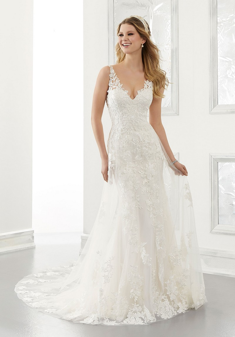 Amalia (Style 2186) wedding dress from the Morilee Modern Romance Spring 2021 Bridal Collection