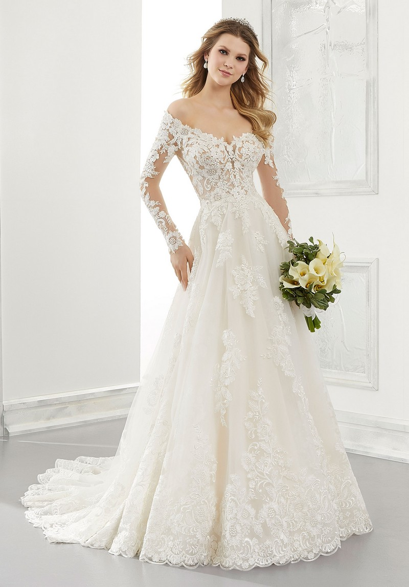 Ambrosia (Style 2196) wedding dress from the Morilee Modern Romance Spring 2021 Bridal Collection