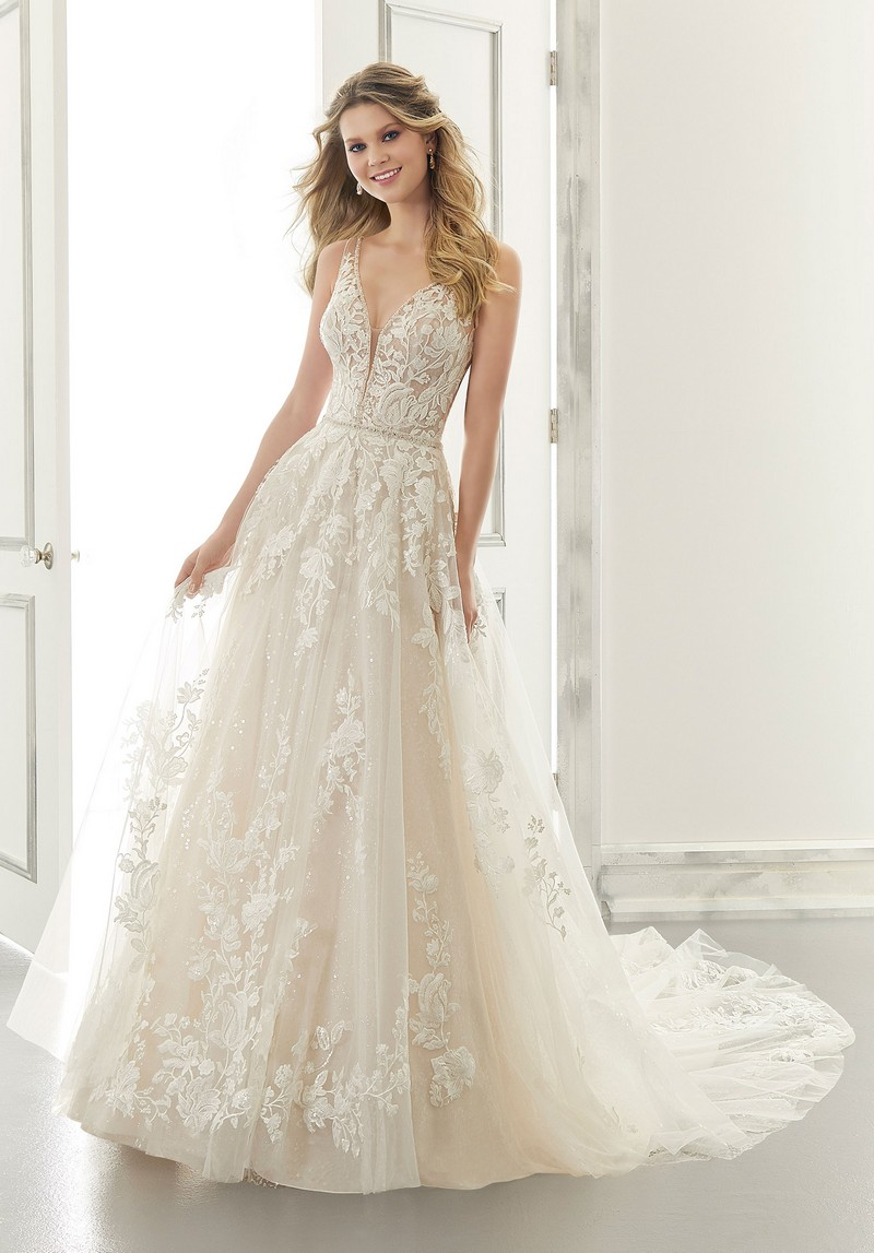 Ana (Style 2179) wedding dress from the Morilee Modern Romance Spring 2021 Bridal Collection
