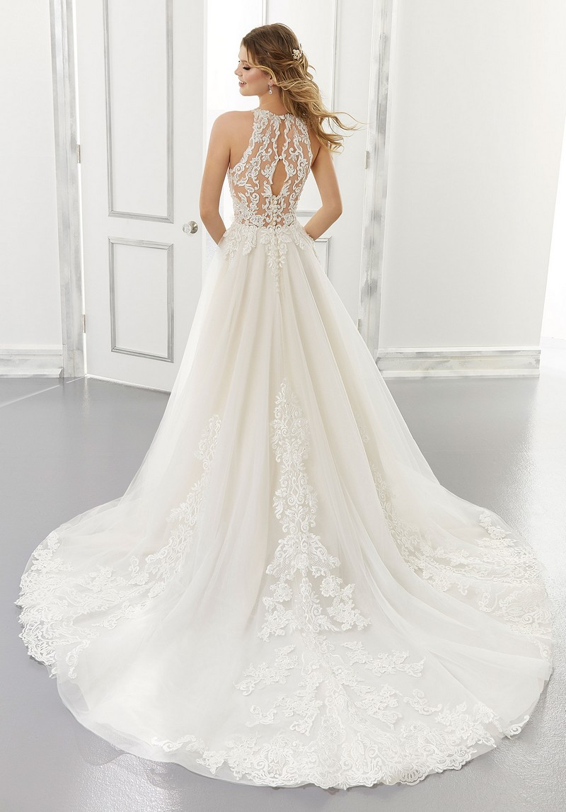 Back of Analiese (Style 2187) wedding dress from the Morilee Modern Romance Spring 2021 Bridal Collection