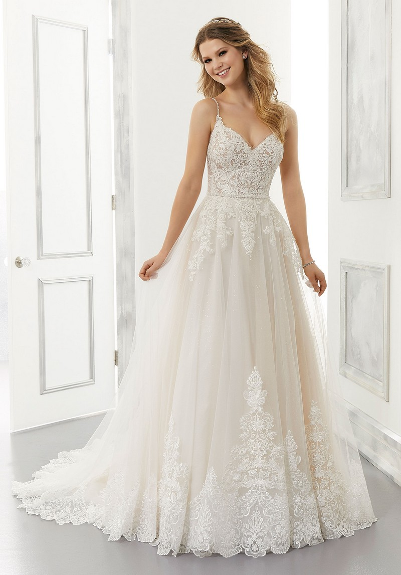 Annabel (Style 2195) wedding dress from the Morilee Modern Romance Spring 2021 Bridal Collection