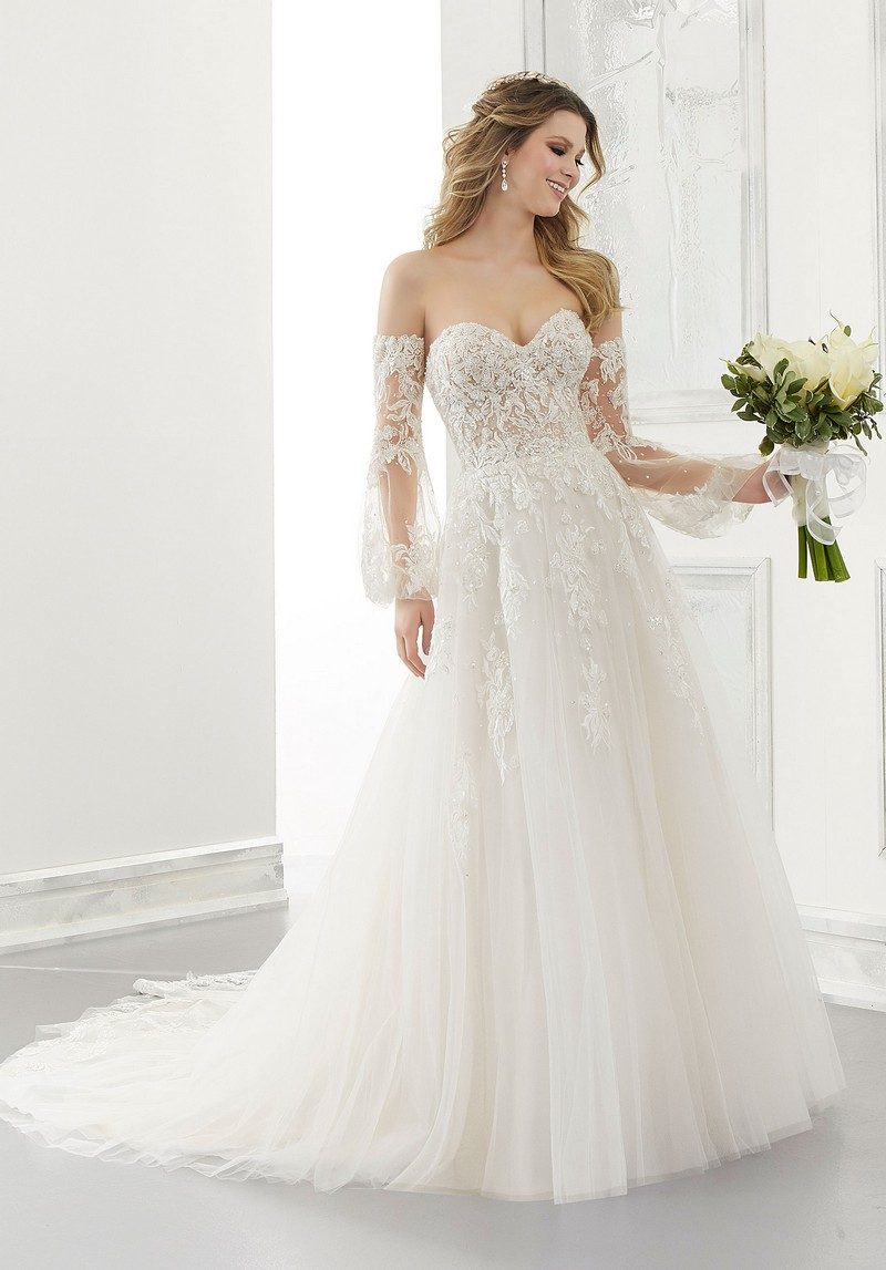 Antonella (Style 2183) wedding dress from the Morilee Modern Romance Spring 2021 Bridal Collection