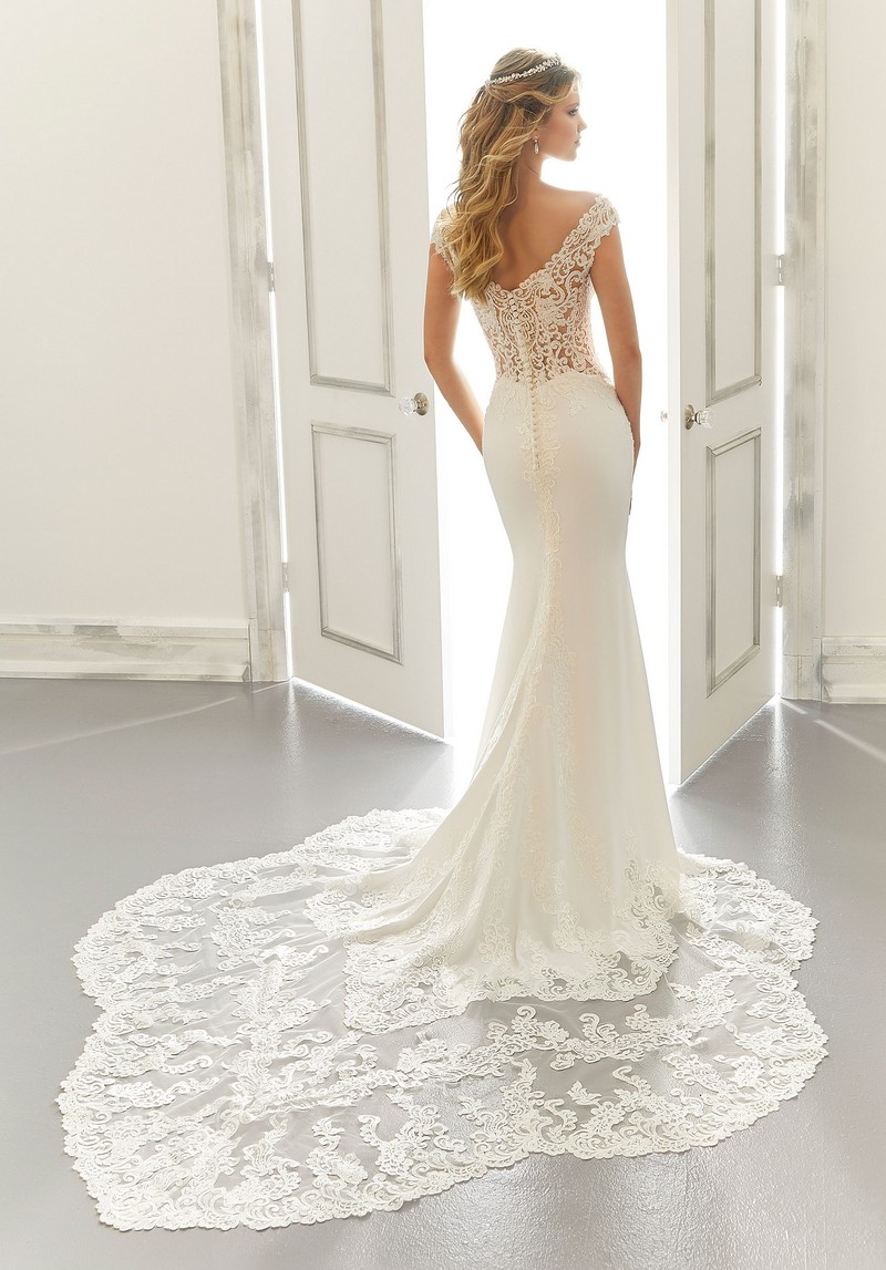 Back of Anya (Style 2184) wedding dress from the Morilee Modern Romance Spring 2021 Bridal Collection