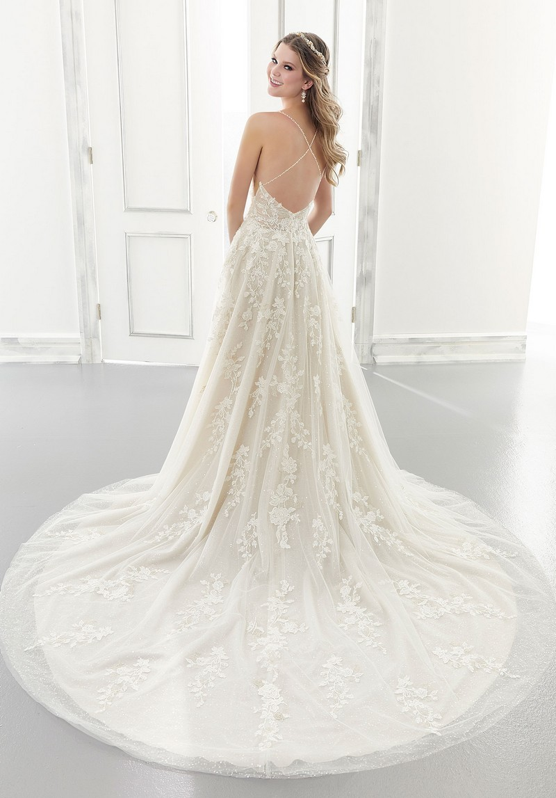 Back of Ariana (Style 2181) wedding dress from the Morilee Modern Romance Spring 2021 Bridal Collection