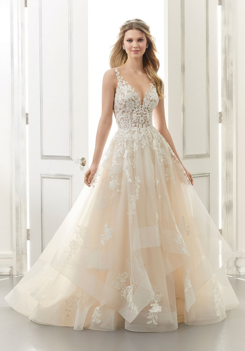 Audrey (Style 2176) wedding dress from the Morilee Modern Romance Spring 2021 Bridal Collection