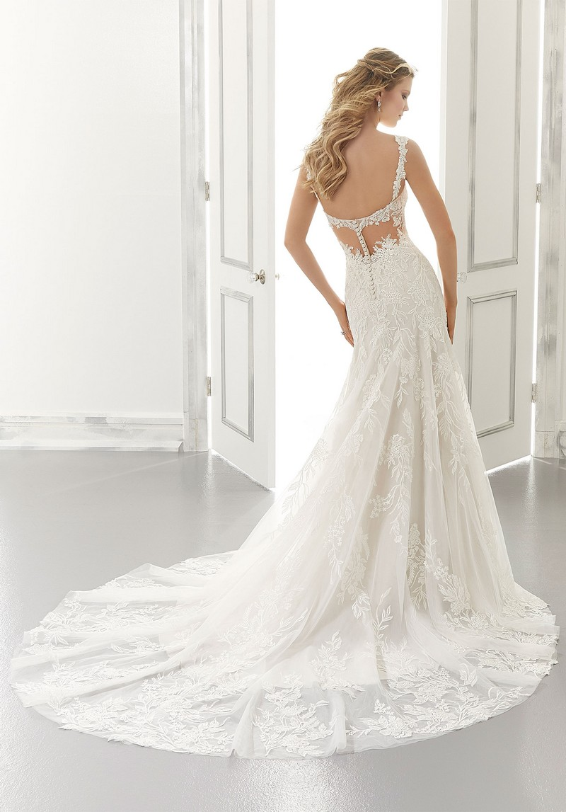 Back of Aviva (Style 2194) wedding dress from the Morilee Modern Romance Spring 2021 Bridal Collection