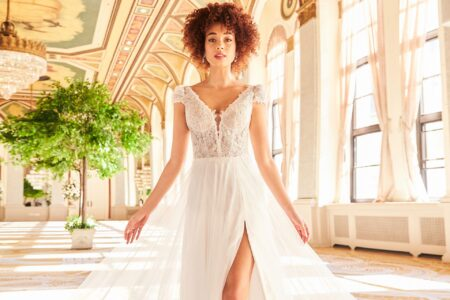 Wedding dress from the Mikaella Fall 2021 Bridal Collection