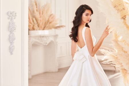 Wedding dress from the Paloma Blanca Fall 2021 Bridal Collection