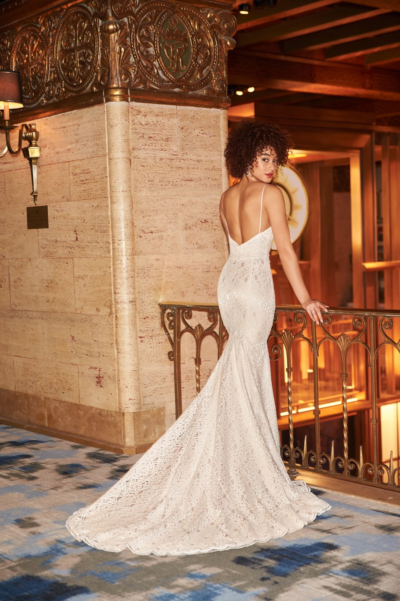 Back of Style 2351 wedding dress from the Mikaella Fall 2021 Bridal Collection