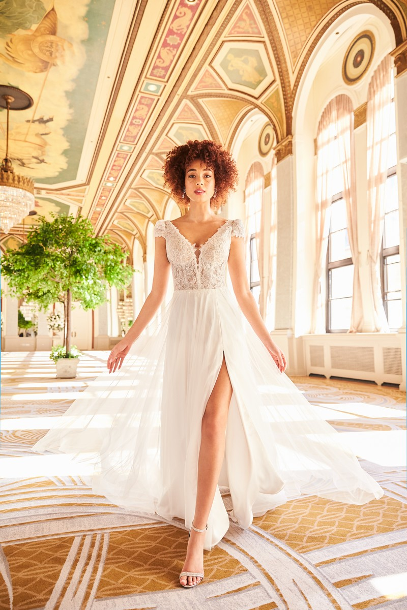 Style 2352 wedding dress from the Mikaella Fall 2021 Bridal Collection