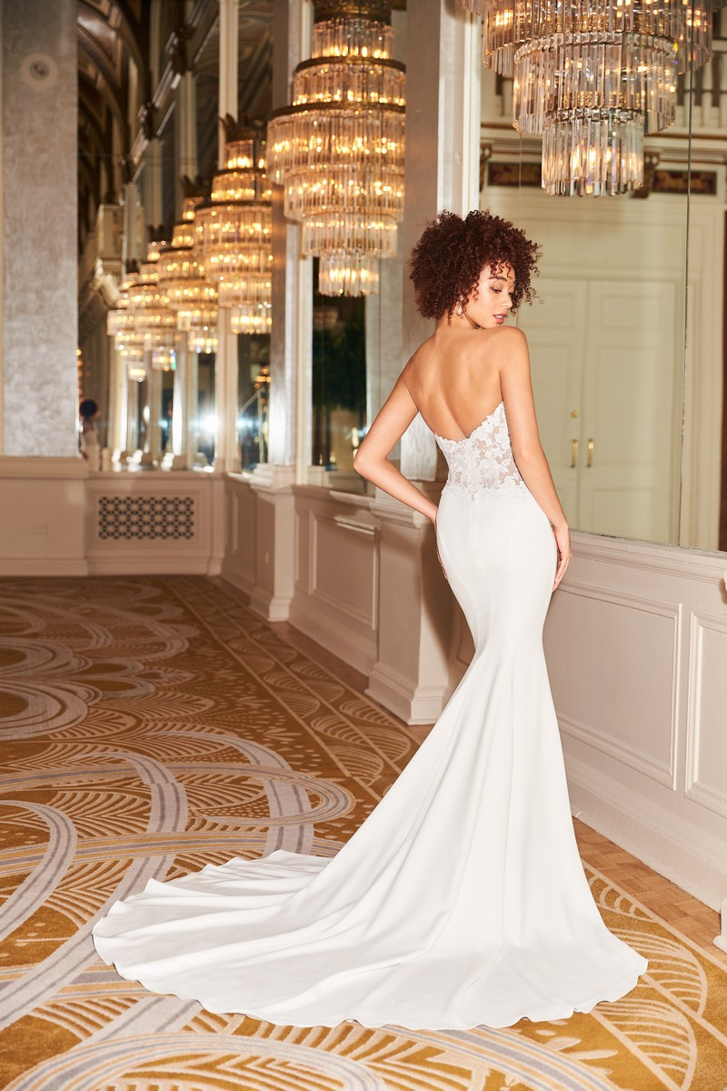 Back of Style 2353 wedding dress from the Mikaella Fall 2021 Bridal Collection