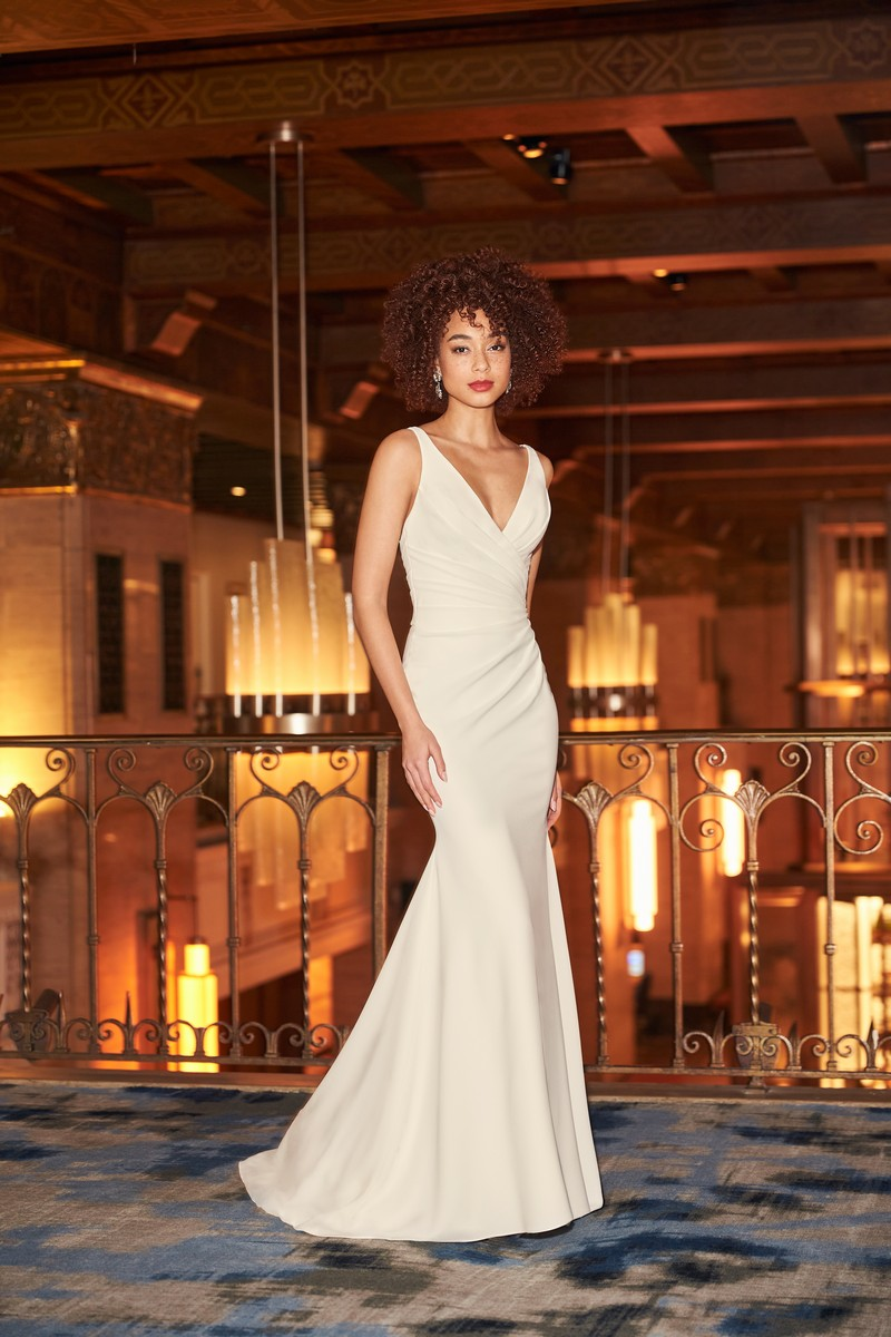 Style 2354 wedding dress from the Mikaella Fall 2021 Bridal Collection