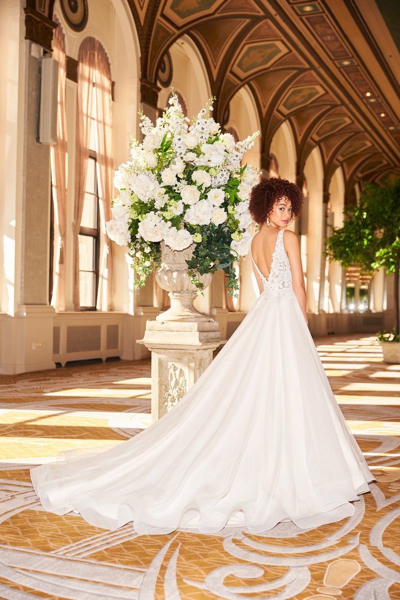Back of Style 2356 wedding dress from the Mikaella Fall 2021 Bridal Collection