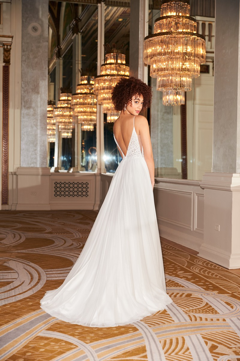 Back of Style 2360 wedding dress from the Mikaella Fall 2021 Bridal Collection
