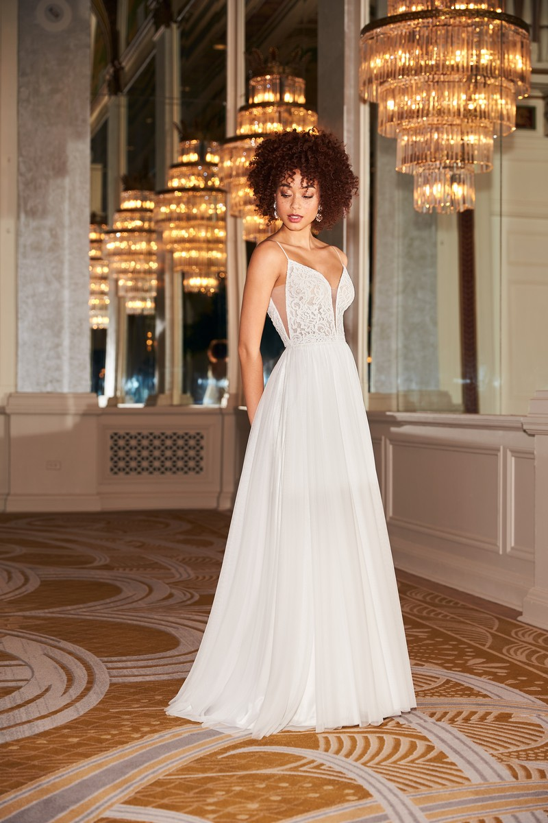 Style 2360 wedding dress from the Mikaella Fall 2021 Bridal Collection