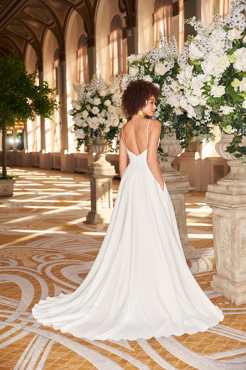 Back of Style 2361 wedding dress from the Mikaella Fall 2021 Bridal Collection