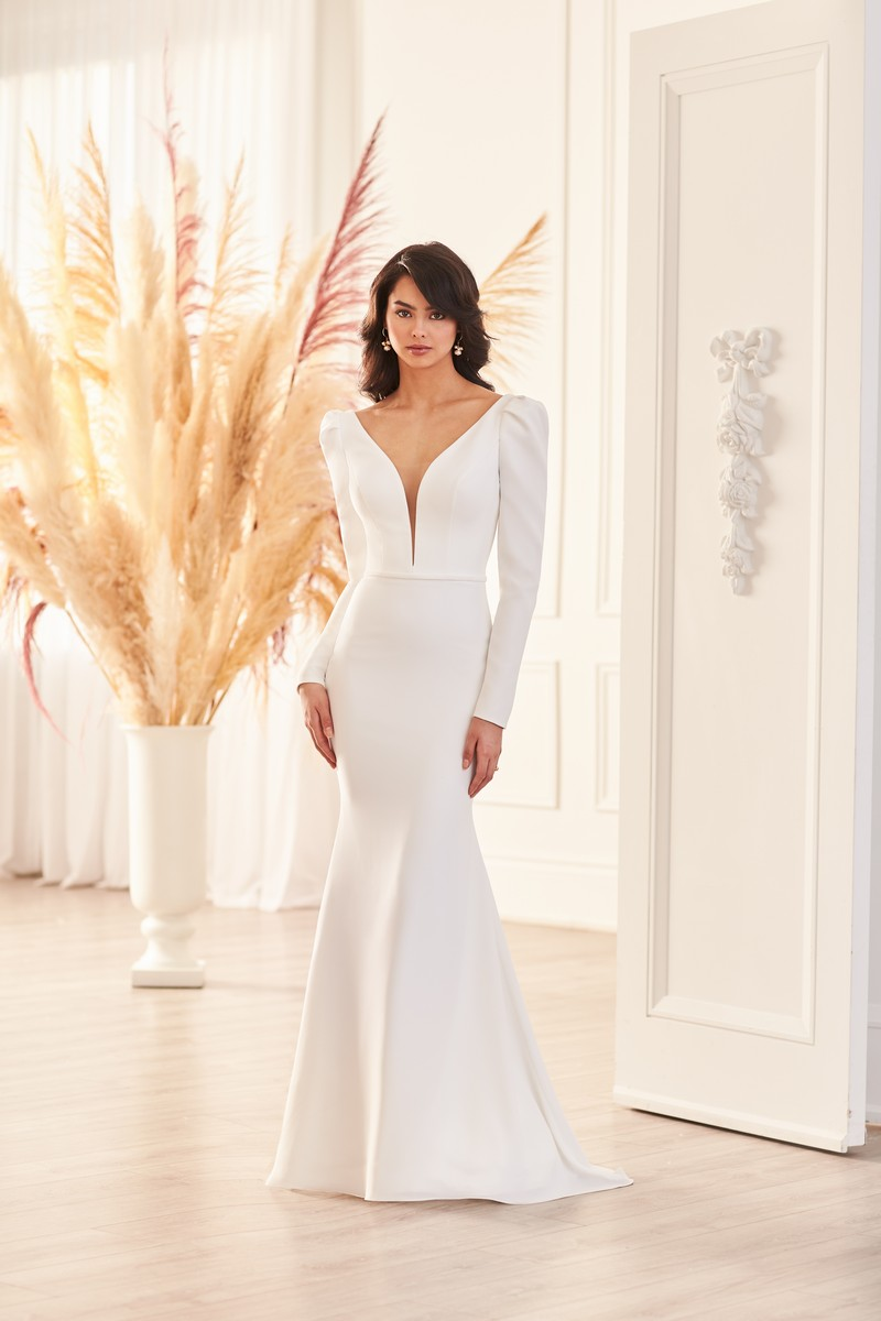 Style 4950 wedding dress from the Paloma Blanca Fall 2021 Bridal Collection