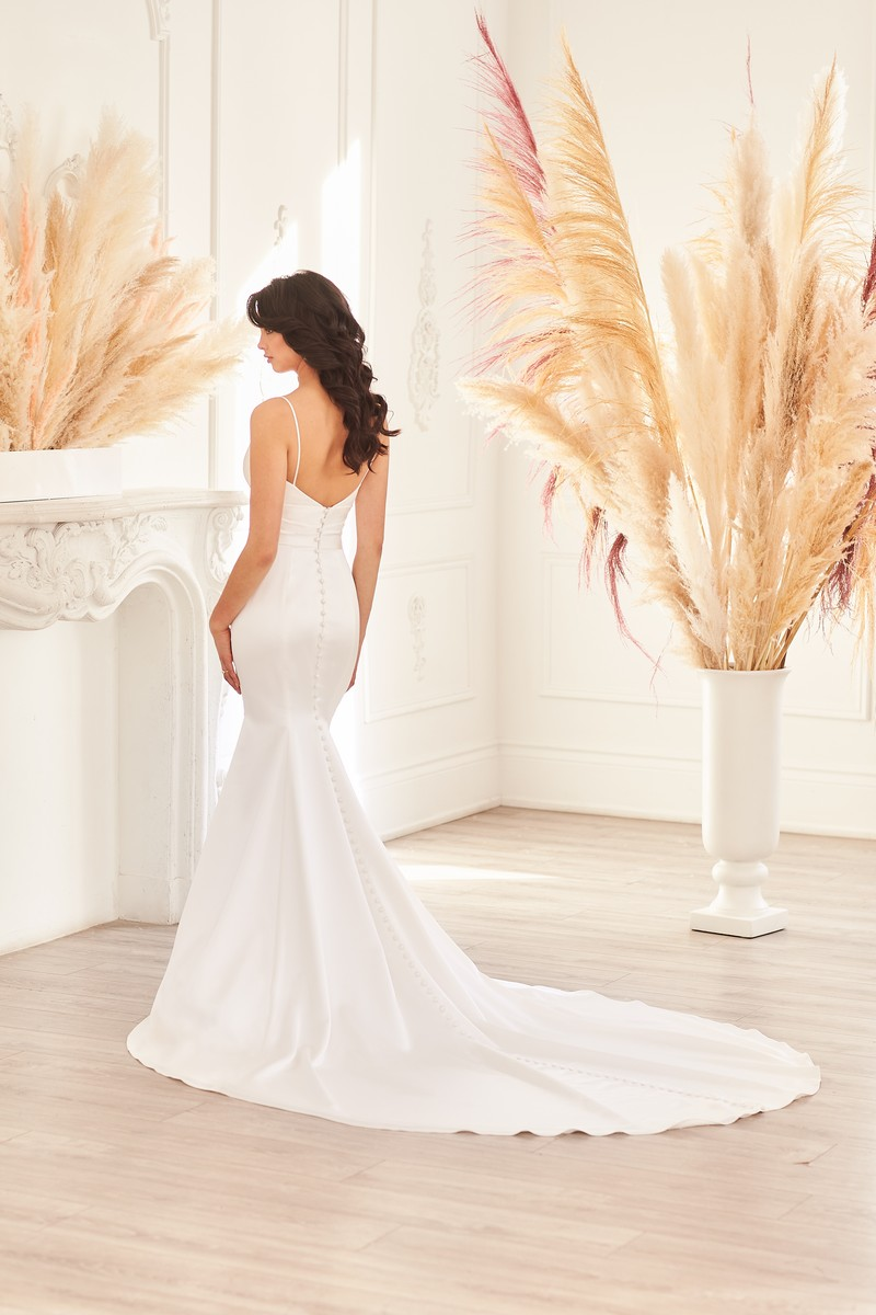Back of Style 4953 wedding dress from the Paloma Blanca Fall 2021 Bridal Collection