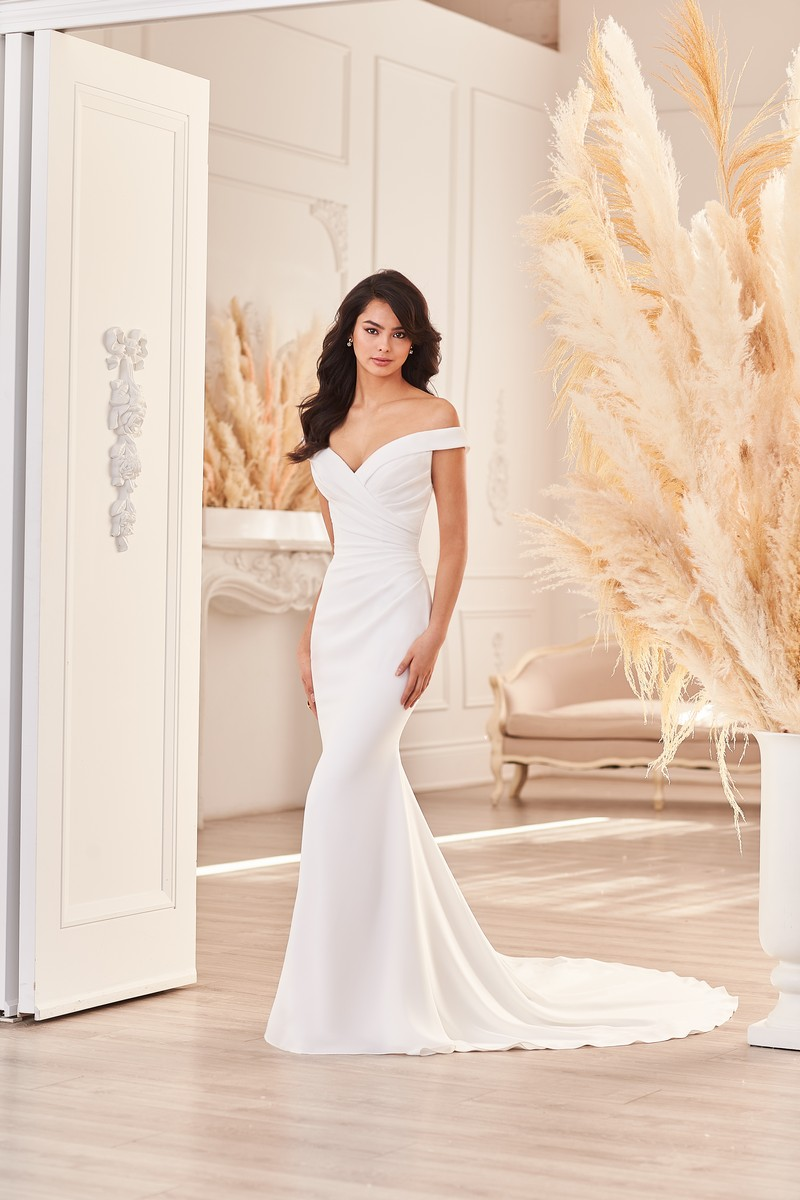 Style 4955 wedding dress from the Paloma Blanca Fall 2021 Bridal Collection