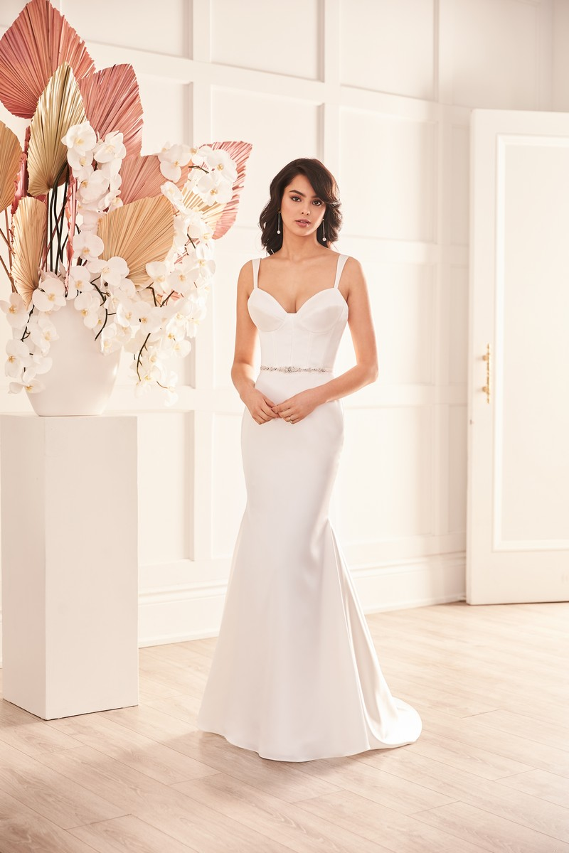 Style 4957 wedding dress from the Paloma Blanca Fall 2021 Bridal Collection