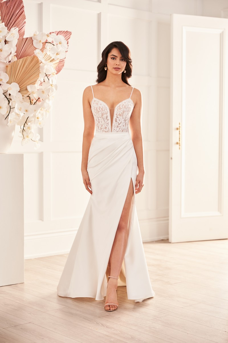 Style 4961 wedding dress from the Paloma Blanca Fall 2021 Bridal Collection